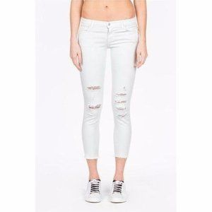 J Brand Cropped Demented White Denim Jeans 24 NWOT